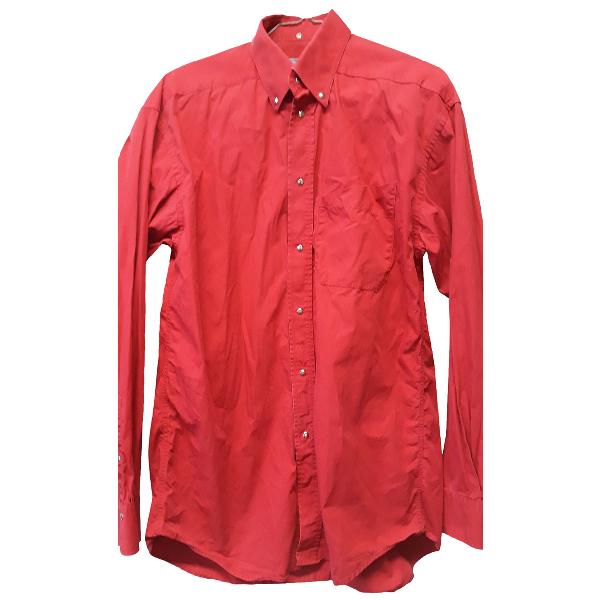 Mugler Red Cotton Shirts