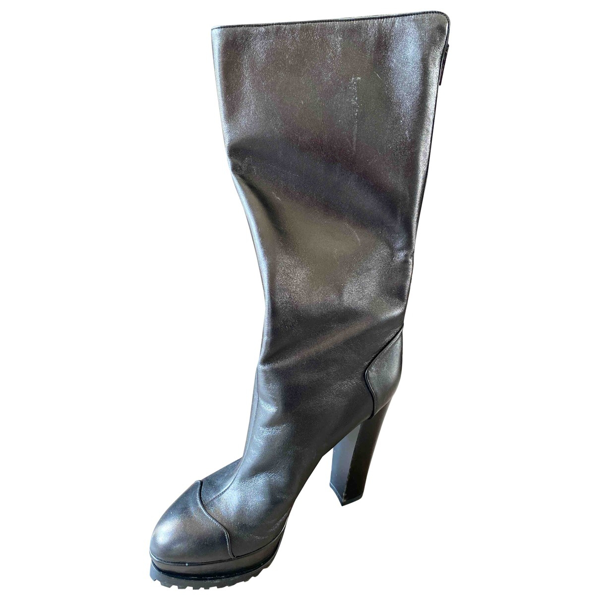Diego Dolcini Black Leather Boots