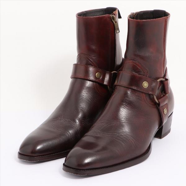 Saint Laurent Brown Leather Boots