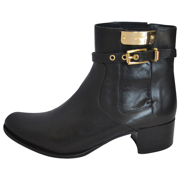Luis Onofre Black Leather Ankle Boots