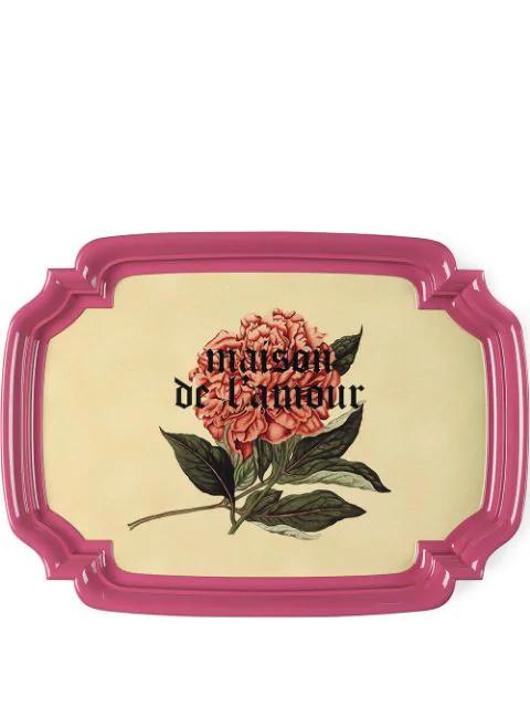 Gucci Maison De L'amour Tray (51.5cm) In Pink