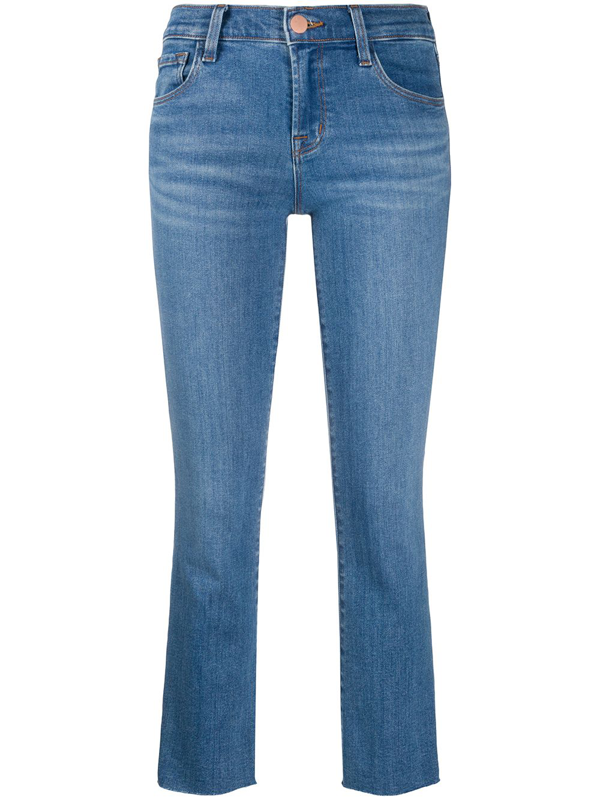 J Brand Alana Mid-rise Cropped Jeans In Blue