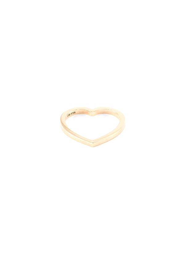 Repossi 'antifer' Diamond 18k Rose Gold Single Row Ring In Metallic