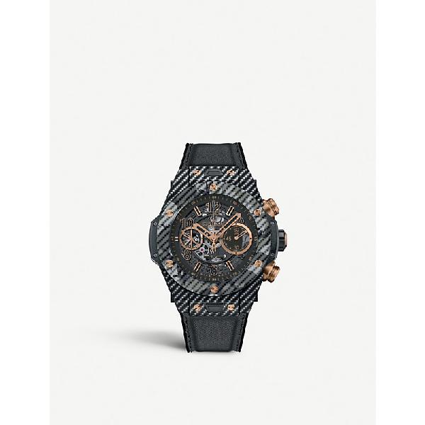Hublot 411.yt.1198.nr. Iti16 Carbon Fibre Watch In Black