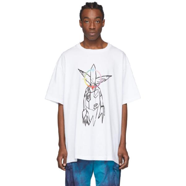Off-white Futura Oversized Printed Cotton-jersey T-shirt In 0188 Whitemulti