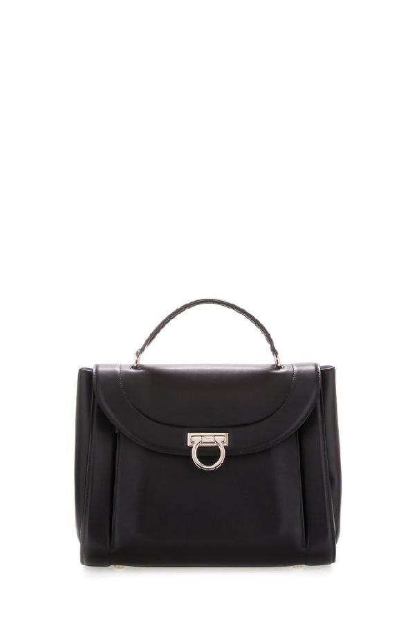 Salvatore Ferragamo Sofia Tote Bag In Black