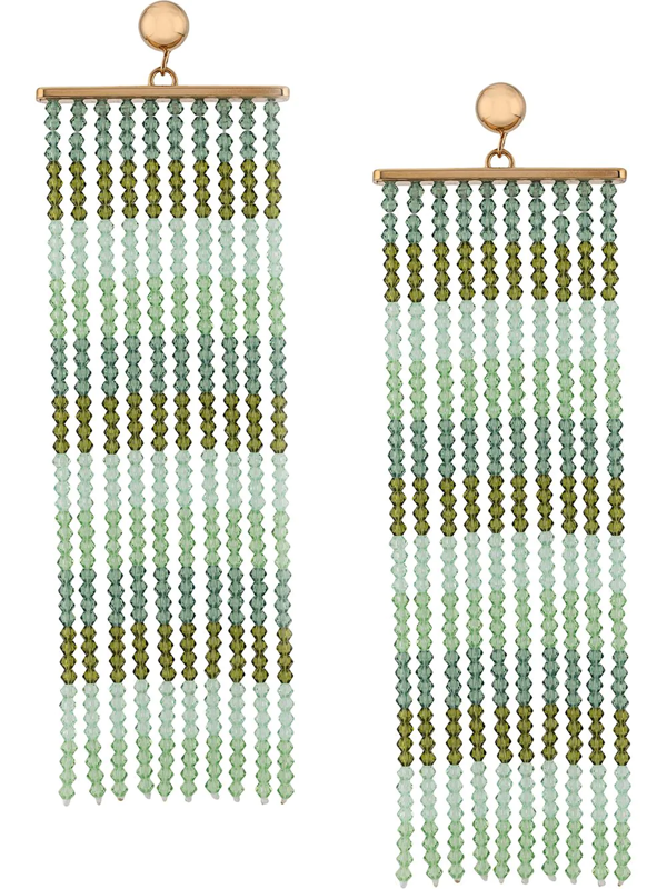 Jacquemus Les Rideaux Bead-embellished Earrings In Green