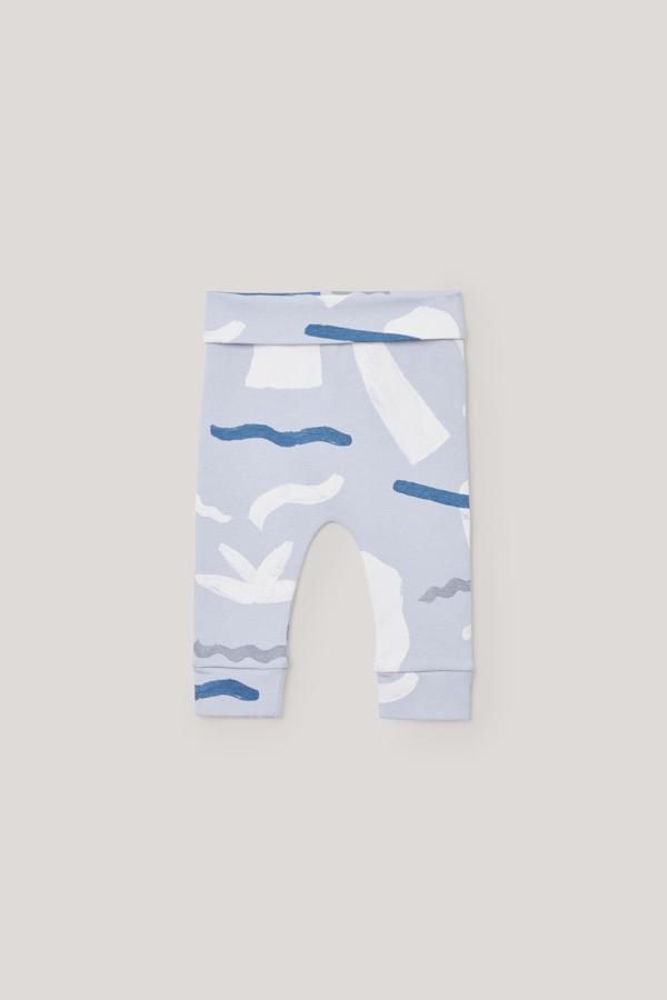 Cos Kids' Printed Organic Cotton Leggings In Grey