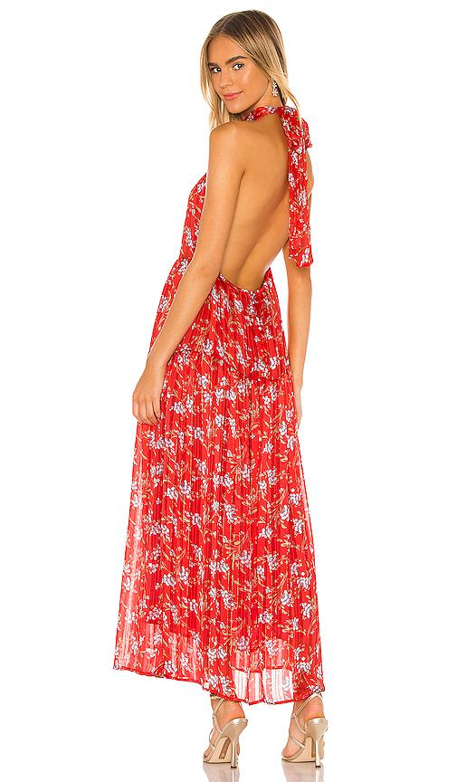 Sabina Musayev Hawaii Dress In Red Ditsy