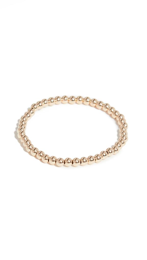Alexa Leigh 4mm Gold Bracelet In Yellow Gold