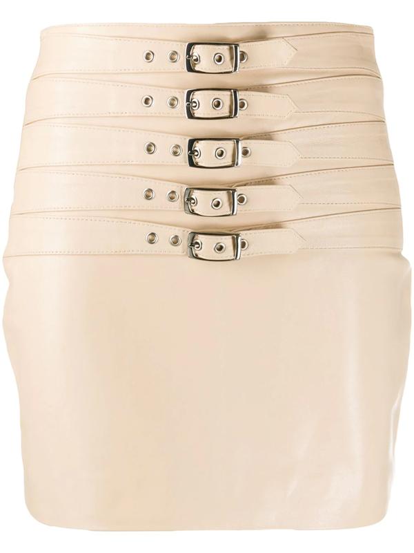 Manokhi Dita Mini Skirt In Neutrals