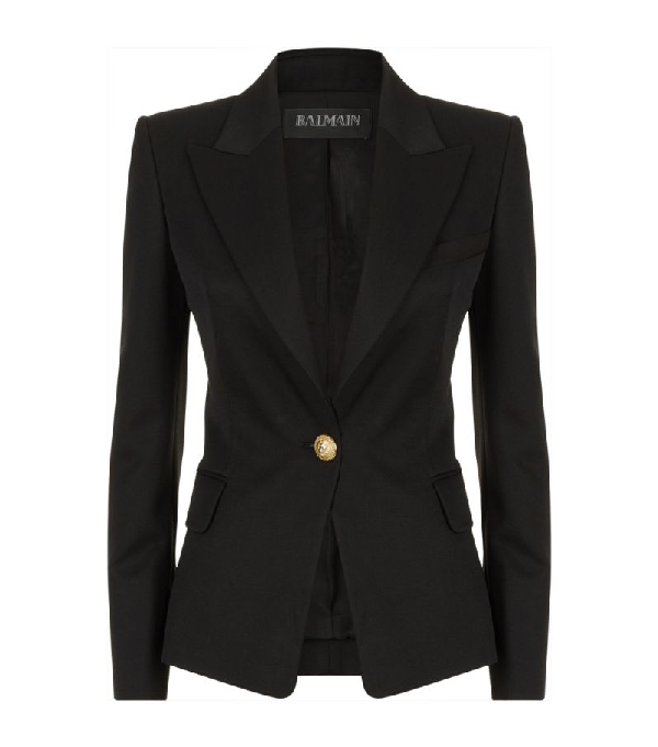 Balmain Single-breasted Wool Blazer