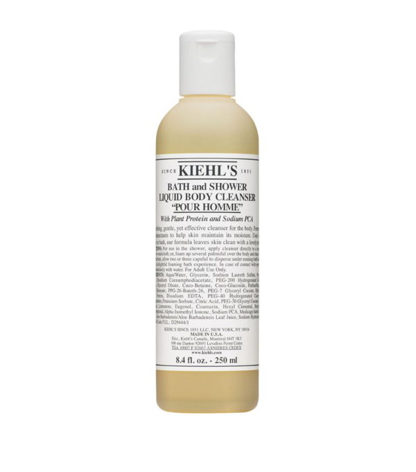 Kiehl's Since 1851 Kiehl's Pour Homme Bath And Shower Liquid Body Cleanser (250ml) In White