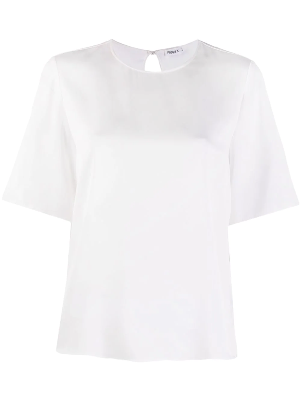 Filippa K Silk Oversized Blouse In White