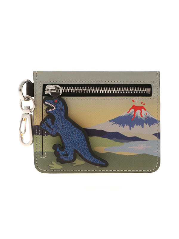 Ps By Paul Smith Dino Multicolor Card Holder