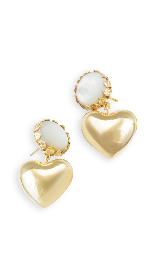 Rachel Comey Dear Earrings In Gold Nacar Pearl