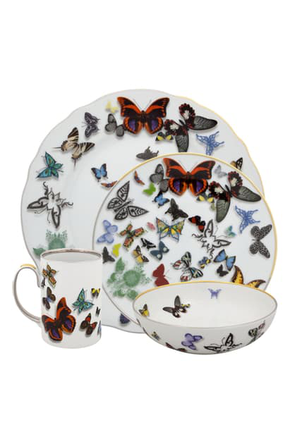 Christian Lacroix Butterfly Parade 4-piece Place Setting In White
