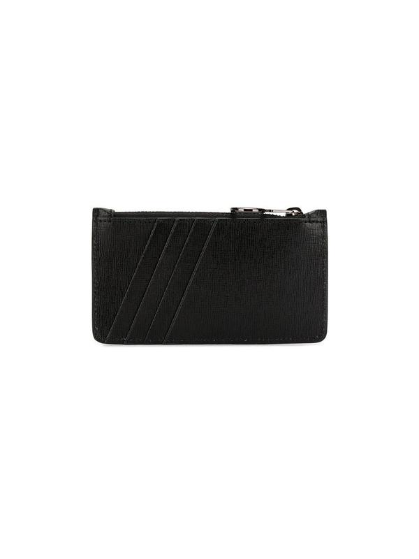 Off-white Zipped Logo Cardholder In Black