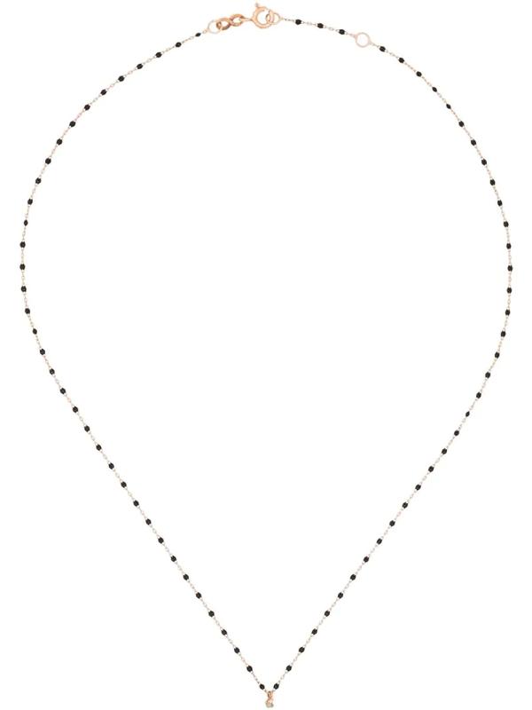 Gigi Clozeau 18kt Rotgoldhalskette Mit Einem Diamanten In Rose