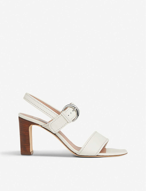 Lk Bennett Natalie Heeled Leather Sandals