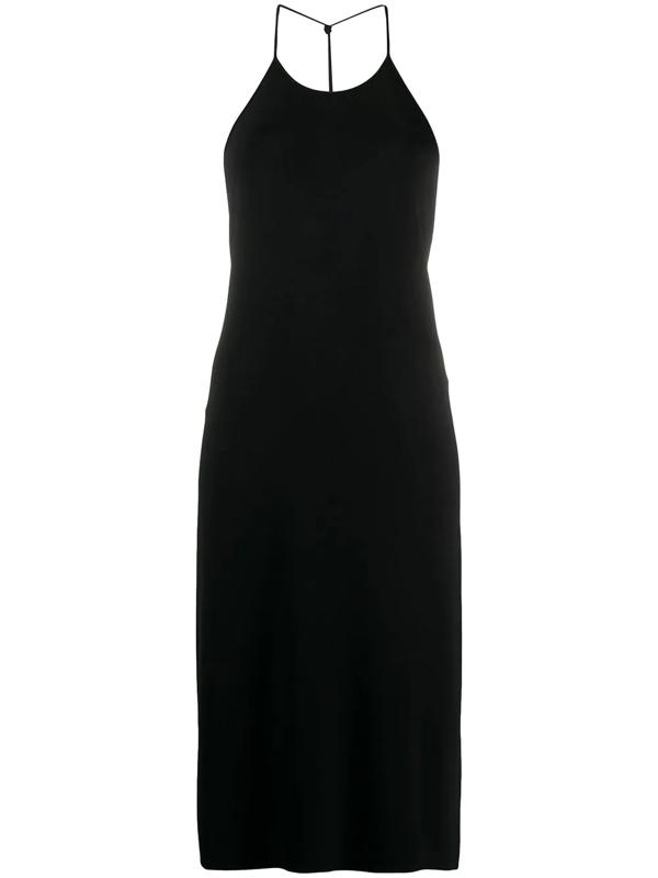 Bottega Veneta Women's Stretch-jersey Halterneck Dress In Black