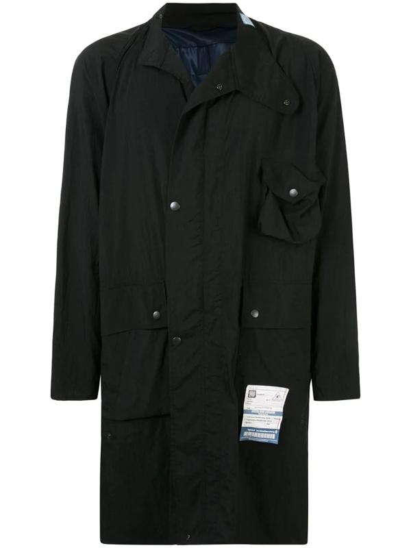 Miharayasuhiro Two Pocket Parka Coat In Black