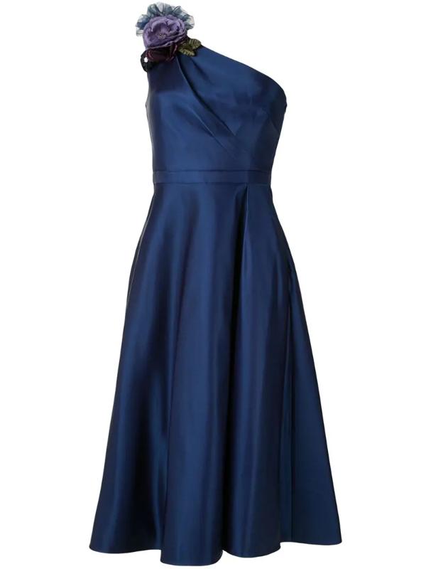 Marchesa Notte Women's One-shoulder A-line Dress In Blue