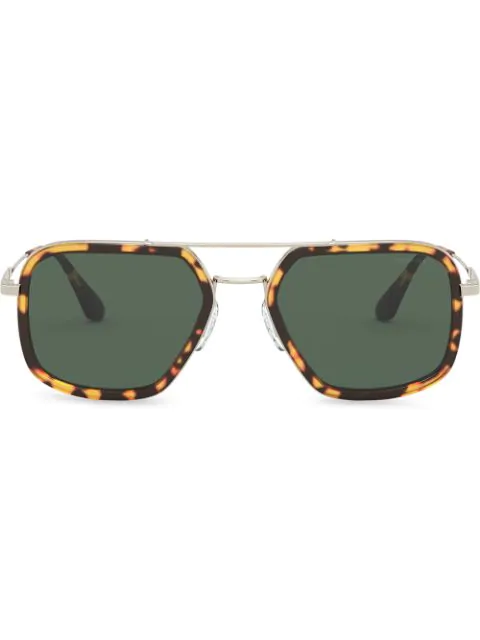 Prada Game Navigator-frame Sunglasses In Brown