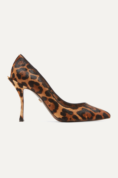 Dolce & Gabbana Dolce&gabbana Leopard-print Pony Hair Pumps In Leopard Print