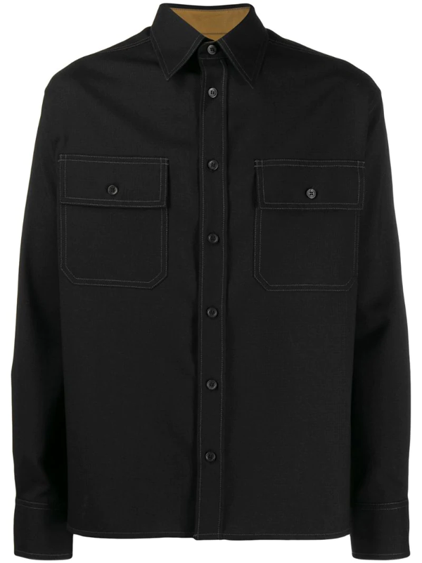 Marni Oversized Shirt In Black