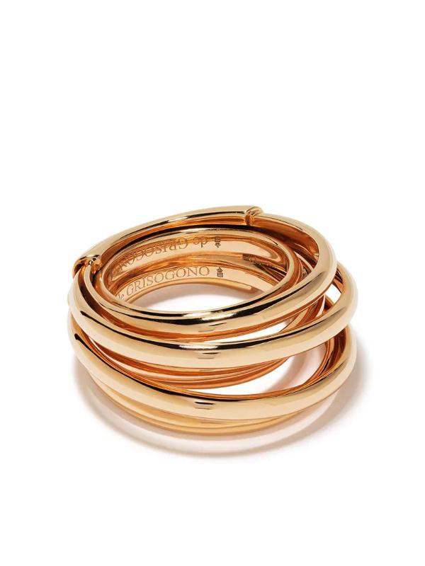 De Grisogono 18kt Rose Gold Coil Ring