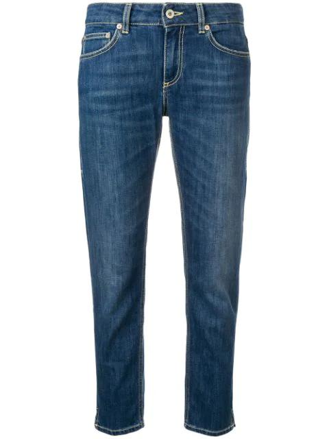 Dondup Five Pocket Skinny Jeans In Blue