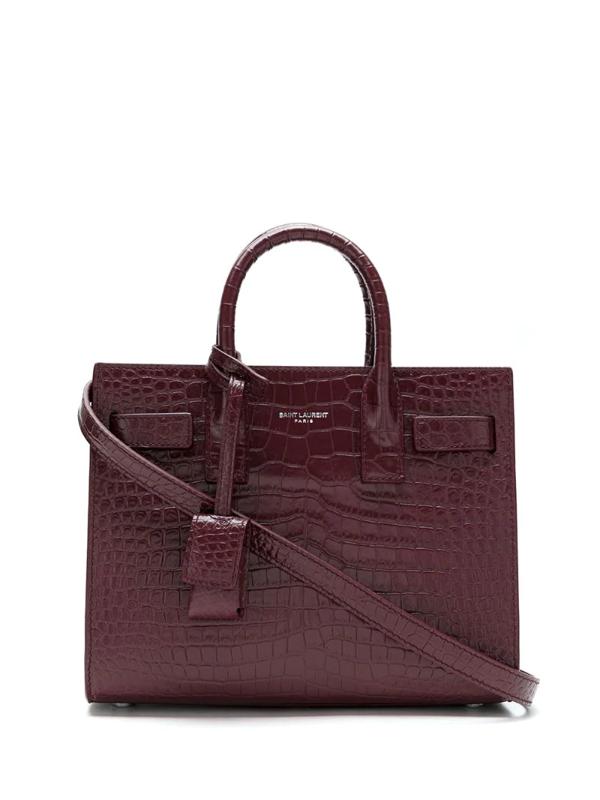 Saint Laurent Sac De Jour Nano Top-handle Bag In Red