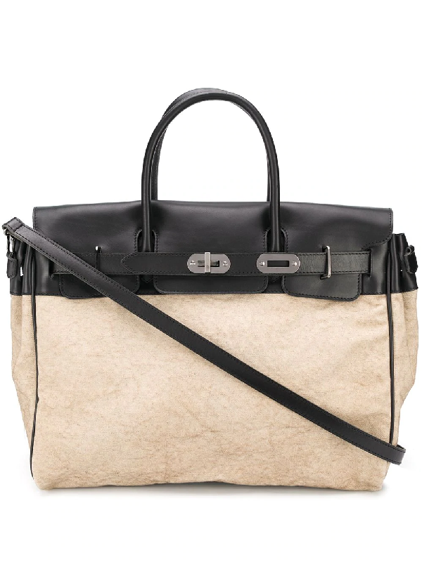 Numero 10 Canvas Luggage Bag In Neutrals