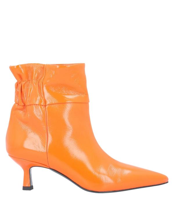 Erika Cavallini Ankle Boot In Orange
