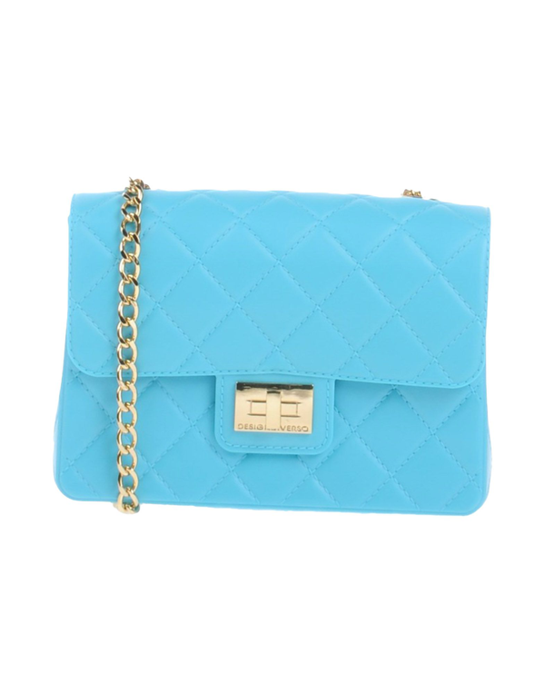 Designinverso Cross-body Bags In Turquoise
