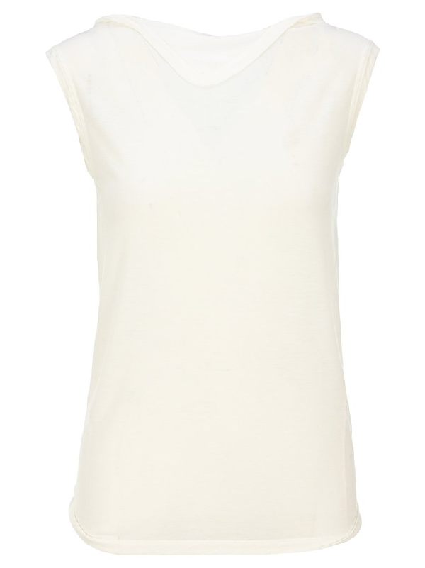 Rick Owens Sleeveless Top In White