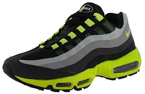 best sneakers 7e3de 4ffd0 Air Max 95 No-Sew Mens Running Shoes 511306-010 in Black/Volt/Grey