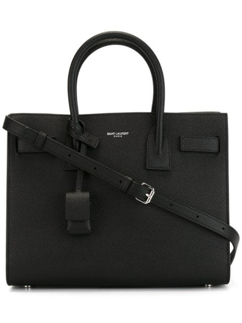 Saint Laurent Sac De Jour Baby Leather Cross-Body Bag In Black