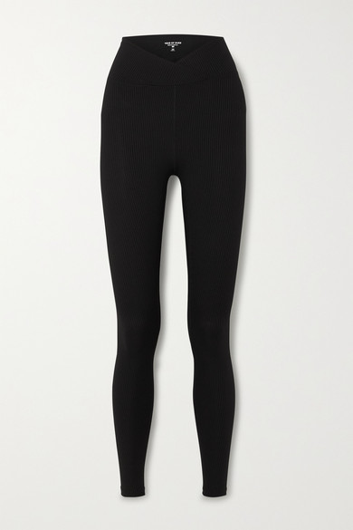 Year Of Ours Veronica Ribbed Stretch Leggings In Black