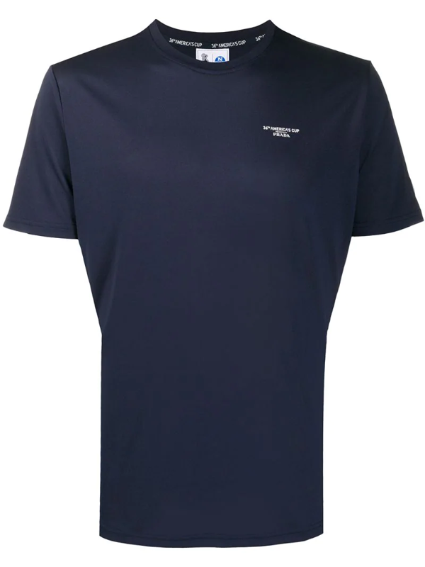 Prada X 36th America's Cup Presented By  Printed T-shirt In Blue