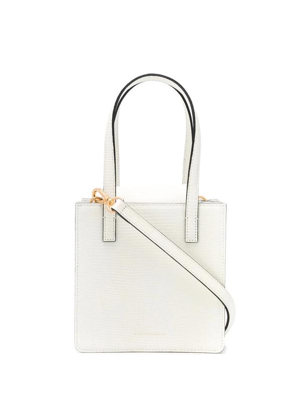 Marge Sherwood Grandma Lizard-effect Bag In White