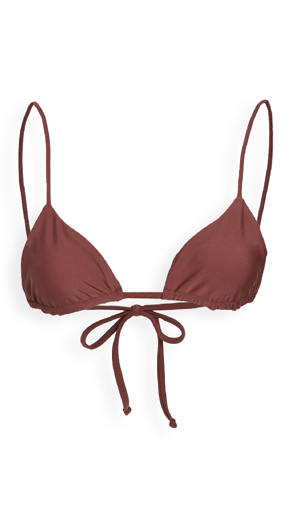 Jade Swim Via Bikini Top In Brown