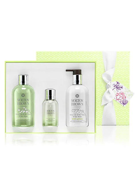 Molton Brown Dewy 3-piece Lily Of The Valley & Star Anise Fragrance Gift Set