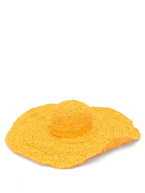 Reinhard Plank Hats Sole Wide-brimmed Papier Hat In Yellow