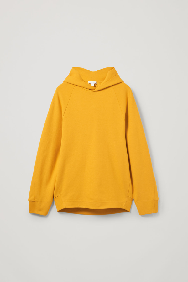 Cos Cocoon Fit Hoodie In Yellow