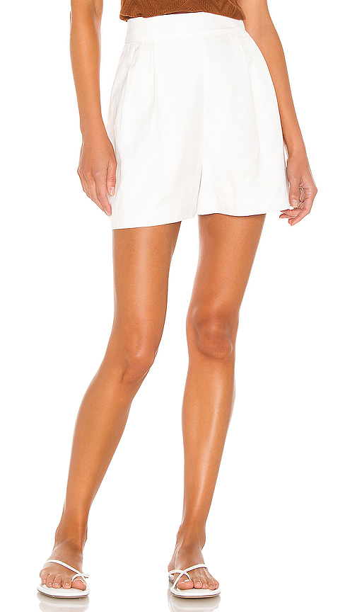 Bcbgmaxazria High-rise Shorts In Optic White