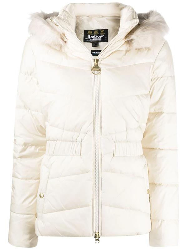 Barbour Katafront Waterproof Concealed Hood Jacket In Neutrals
