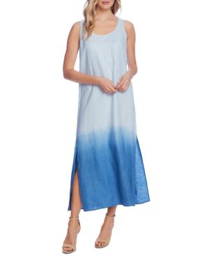 Vince Camuto Linen Dip-dyed Tank Dress In Blue Bird