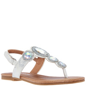 Nina Kids' Kellie2 Toddler Girls Sandal In Silver-tone Metallic